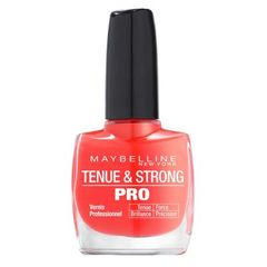 Gemey Maybelline, Tenue & Strong Pro - Vernis a ongles Rose Salsa 490, le vernis a ongles