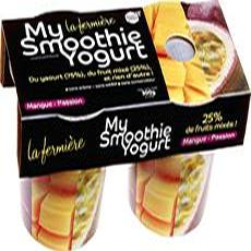 La fermière smoothie yogurt mangue passion 2x150g