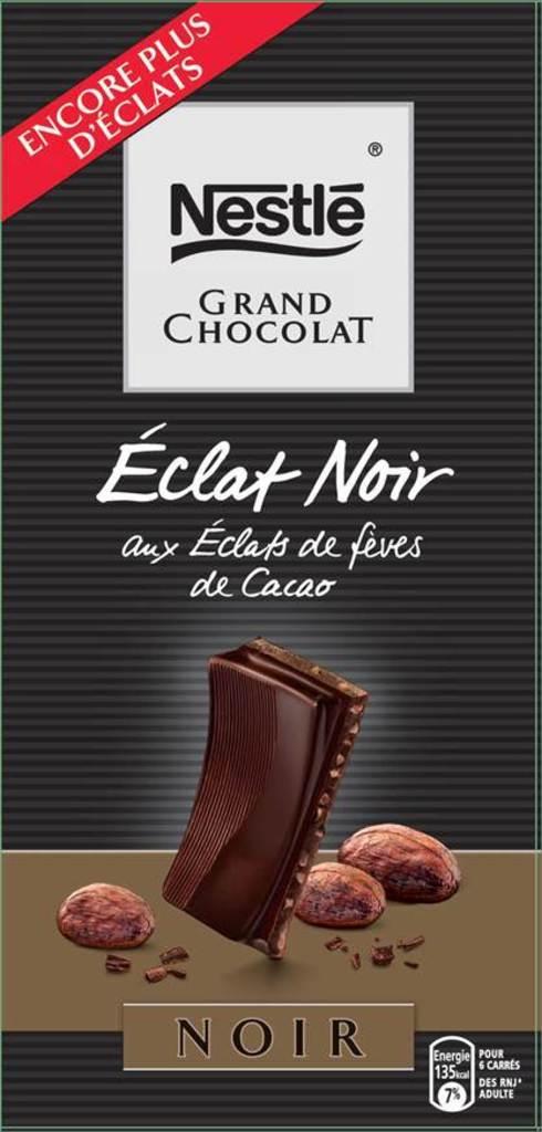 Chocolat noir aux eclats de feves de Cacao