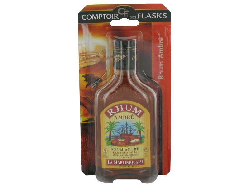 Rhum ambre la martiniquaise 40° flask 20cl