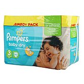 Couches Pampers Baby Dry T3 Jumbo + x90