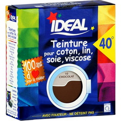 Ideal teinture tissus grand teint maxi brun 75ml 100g de fixateur tous le - Ideal teinture textile ...