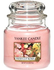 Yankee Candle 1038356E Bougie Fresh Cut Roses en jarre Rouge