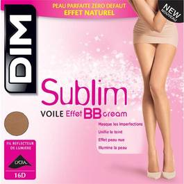 Collant voilel effet BBcream Beige rose T4