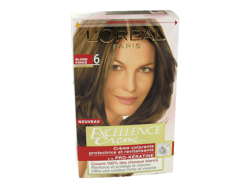 loral excellence crme coloration blond fonc 6 - Coloration Excellence