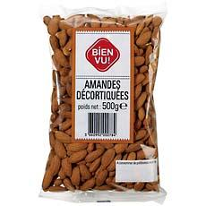 Amandes decortiquees BIEN VU, 500g
