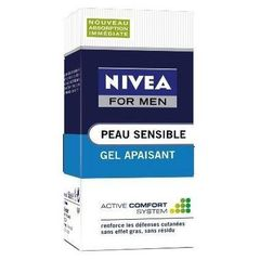 Gel soin apaisant apres rasage peaux sensibles NIVEA FOR MEN, 50ml