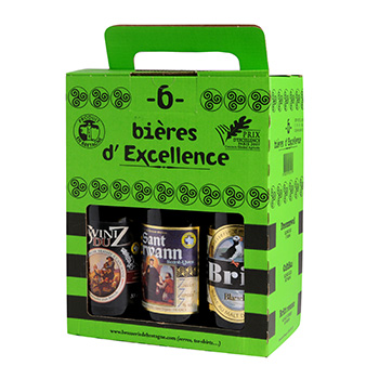 Biere coffret Excellence Britt 6.07%vol 6x33cl