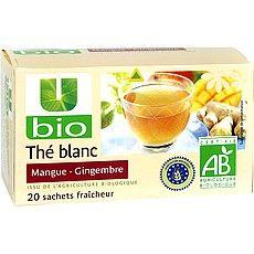 The blanc mangue gingembre U BIO, 20 sachets, 36g