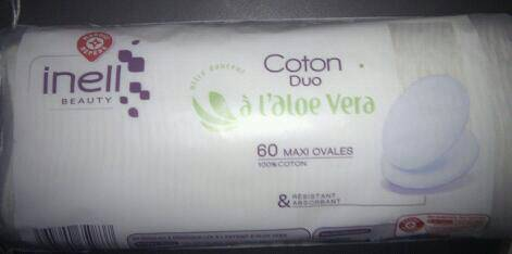 Coton Duo Démaquillants Inell Ovale - Aloé véra - Disques x60