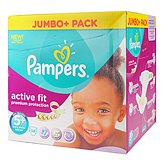 Couches Pampers Active Fit Jumbo box T5 + x58