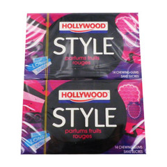 Style By Hollywood Fruits rouges sans sucres 28 gums