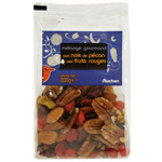 Auchan noix de p?can et fruits rouges 200g