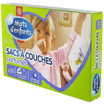 sacs a couche mots d 39 enfant x50 tous les produits accessoires prixing. Black Bedroom Furniture Sets. Home Design Ideas