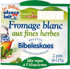 Fromage blanc fines herbes 2X125 grammes