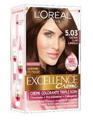 excellence coloration n503 chatain clair lumineux x2 - Chatain Clair Coloration