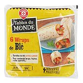 6 wraps de blé nature 350g