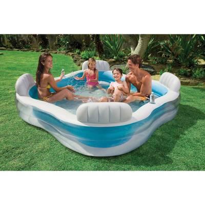 Intex piscine familiale avec fauteuils int gr s 229 x for Accessoire piscine 66