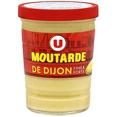 Moutarde de Dijon U verre cannele 17cl 160g