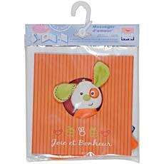 Doudou + carte Messager d'Amour SUCRE D'ORGE, coloris assortis