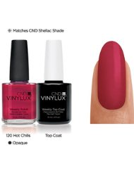 CND Vinylux Duo + Vernis à Ongles Top Coat Hot Chilis 2 Bouteilles