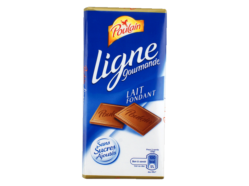 Chocolat au lait poulain tablette ligne gourmande 100g for 1 tablette de chocolat