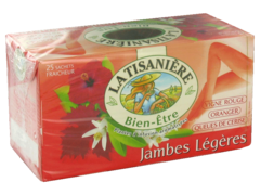 Infusions Jambes Legere LA TISANIERE, 25 sachets, 37,5g