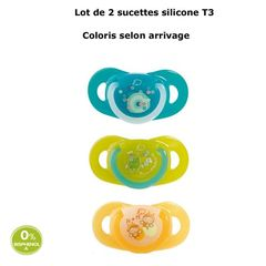 Sucette natural BebeConfort Physiologique silicone T3 x2