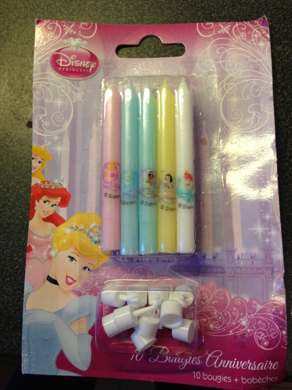 Bougies princesses disney