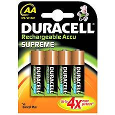 PILE RECHARGEABLE DURACELL HR6 SUPREME 2450 X4