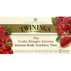 The parfume fruits rouges intense TWININGS, 25 sachets, 45g