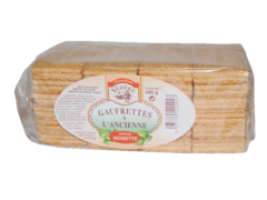 Gaufrettes a l'ancienne fourrees noisette BISCUITERIE VEDERE, 280g