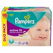 Pampers active fit duopack 2x48 taille 5