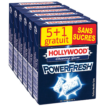 Hollywood dragees powerfresh etuis x5 87g