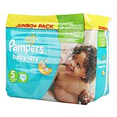 Couches Baby Dry Pampers T5 Jumbo + pack x72