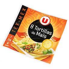 Tortillas de mais U Cuisines & Decouvertes paquet de 320g