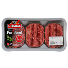 Steak hache Charal Origine France 15%mg 3x125g
