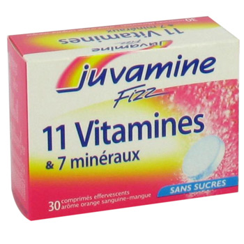 10 Vitamines Juvamine Fizz 4 oligo-elements 30 cp efferv.