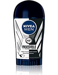 Nivea Men Déodorant Stick Homme Invisible For Black et White Power 40 ml - Lot de 3