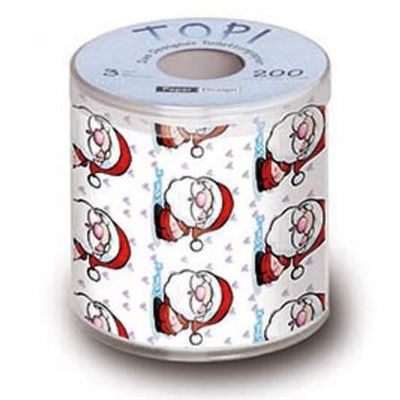 Un rouleau papier toilette p re no l tous les produits papier toilette prixing - Pere noel en rouleau de papier toilette ...