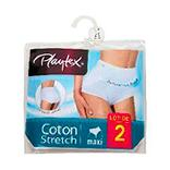 2 Culottes Maxi Cotton PLAYTEX, blanc, taille 42