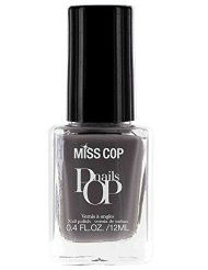 Miss Cop Vernis à Ongles Pop Nails Acier 12 ml - Lot de 2