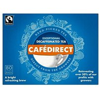 Thé décaféiné Cafédirect Fairtrade cueillies à la main (80) - Paquet de 2