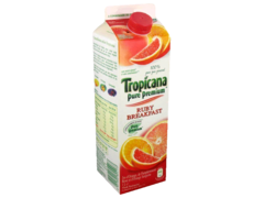 Pur jus d'orange et orange sanguine Ruby Breakfast TROPICANA, 1l