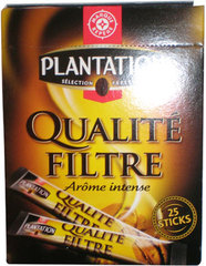 Café soluble Plantation Qualité filtre 25 sticks 50g