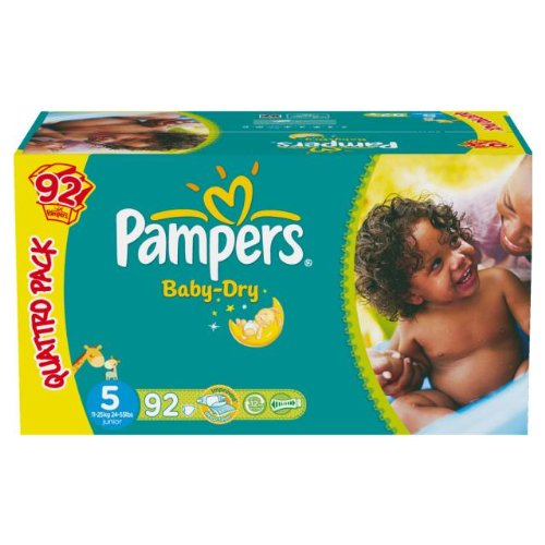 Pampers baby dry quattropack change x92 taille5