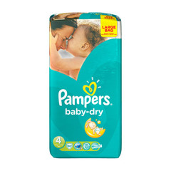 Pampers baby dry value + change x60 taille4