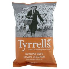 Tyrrells Hand Cooked English Crisps - Sunday Best Roast Chicken (150g)