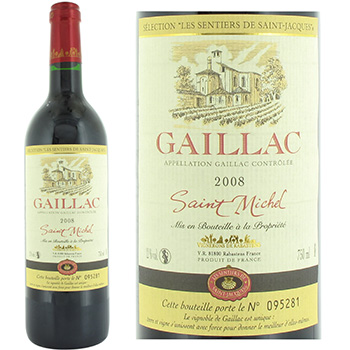 Vin rouge gaillac St Michel 12%vol 2008 75cl