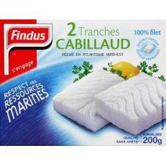 Filet cabillaud Findus 2x100g soit 200g